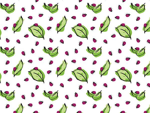 """Ladybug Floral Tissue Paper, 20x30"""", Bulk 120 Sheet Pack"""