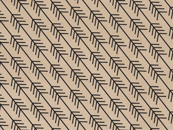 "Kinetic Arrow Black Kraft 240~20""x30"" Tissue Sheets"