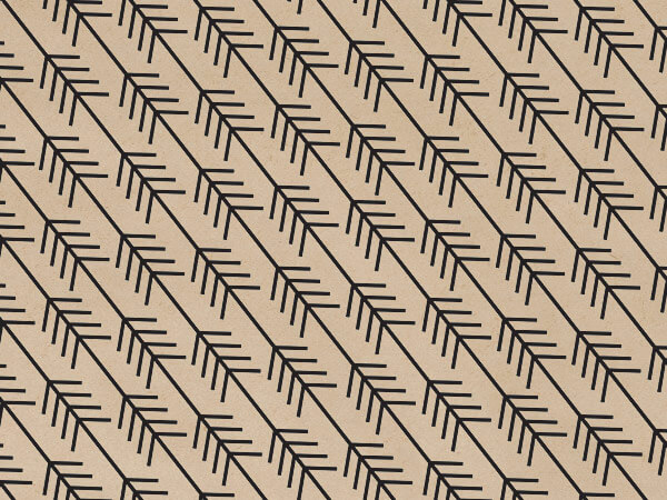 "Kinetic Arrow Kraft Tissue Paper, 20x30"", Bulk 120 Sheet Pack"