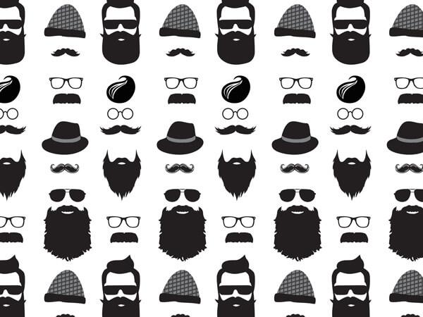 "Black Beard Tissue Paper, 20x30"", 12 Soft Fold Sheets"