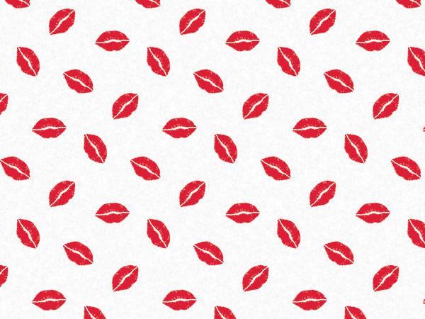 """Red Hot Lips Tissue Paper, 20x30"""", Bulk 240 Sheet Pack"""