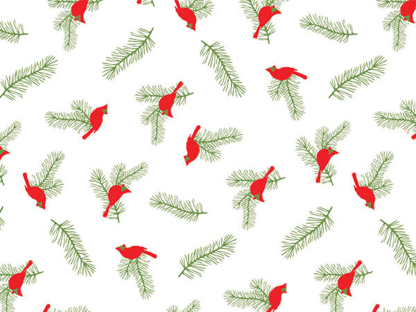 Cardinal Greenery Tissue Paper