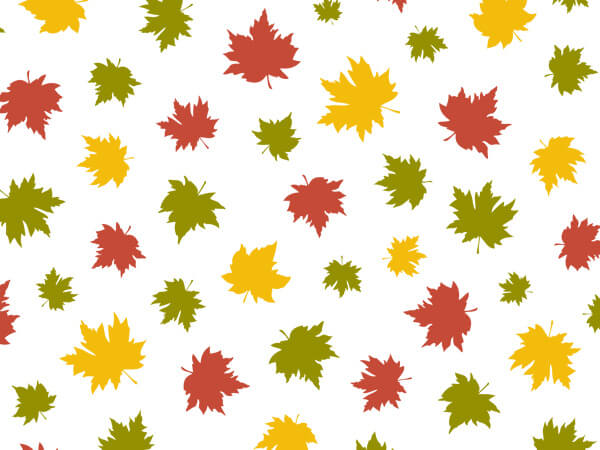"""Falling Maple Leaves Tissue Paper, 20x30"""", 12 Soft Fold Sheets"""