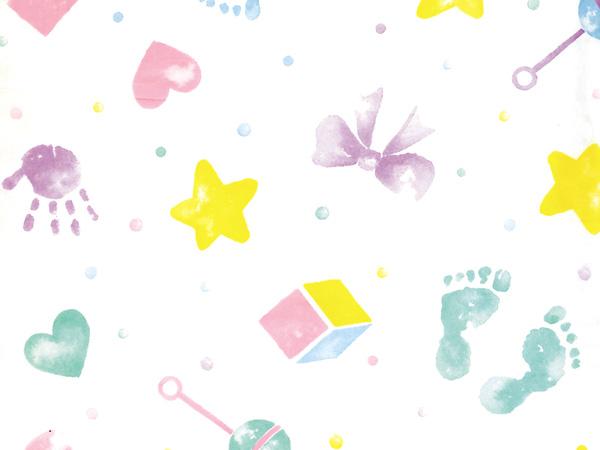 "Baby Prints Tissue Paper, 20x30"", Bulk 100 Sheet Pack"
