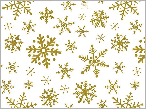 """Golden Snowflake Flurry Tissue, 20x30"""", Bulk 120 Sheet Pack"""