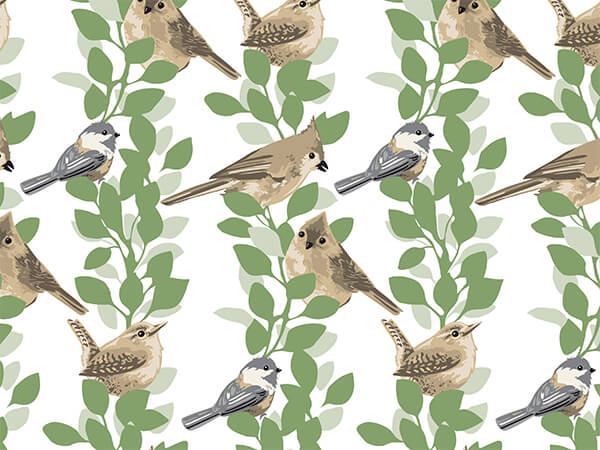 Farmhouse Birds Tissue Paper