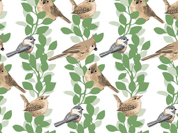 "Farmhouse Birds Tissue Paper, 20x30"", Bulk 120 Sheet Pack"
