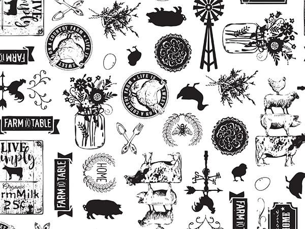 "Farmhouse Favorites Tissue Paper, 20x30"", Bulk 120 Sheet Pack"