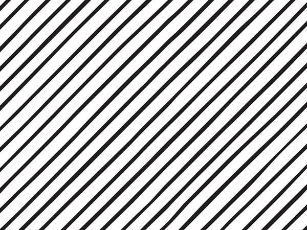 "Black Pinstripe Tissue Paper, 20x30"", 12 Soft Fold Sheets"