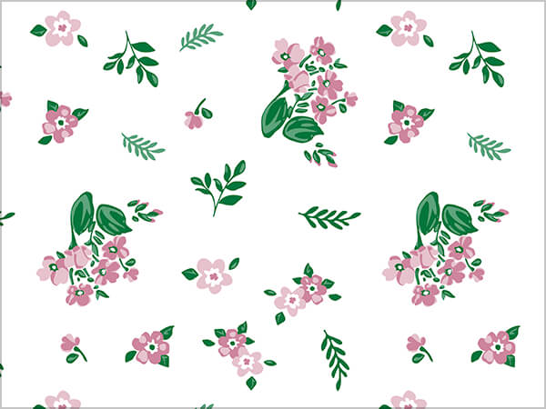 "Fresh Mint Floral Tissue Paper, 20x30"", Bulk 240 Sheet Pack"