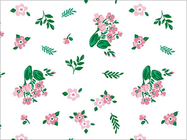"Fresh Mint Floral Tissue Paper, 20x30"", Bulk 120 Sheet Pack"