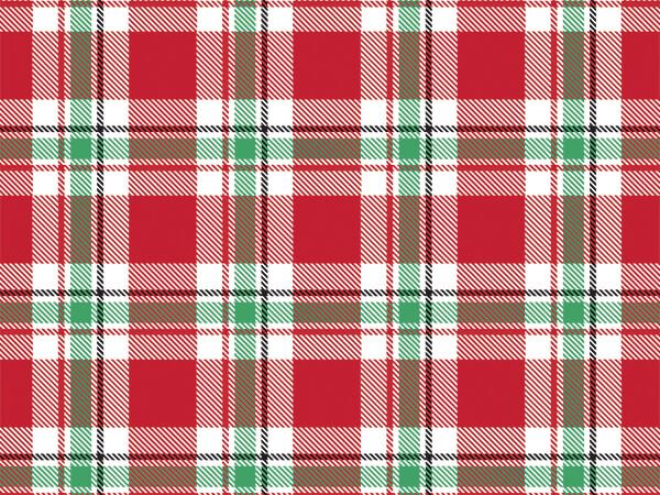 """Christmas Plaid Tissue Paper 240~20""""x30"""" Sheets Tissue Prints"""