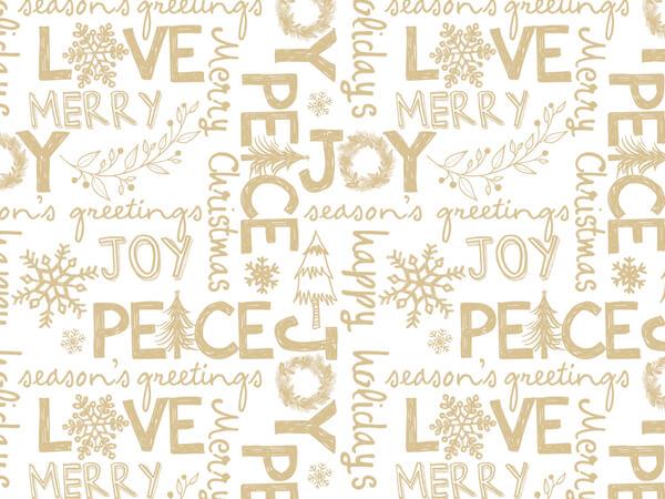"Rustic Christmas Joy Gift Tissue Paper, 20""x30"", 120 Sheets"
