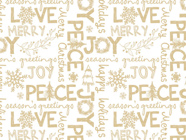 "Rustic Christmas Joy Gift Tissue Paper, 20""x30"", 12 Soft Fold Sheets"