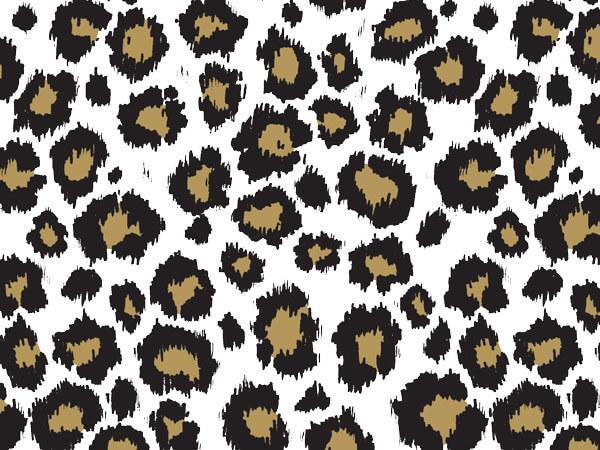 "Golden Leopard Tissue Paper 20x30"", 12 Soft Fold Sheets"