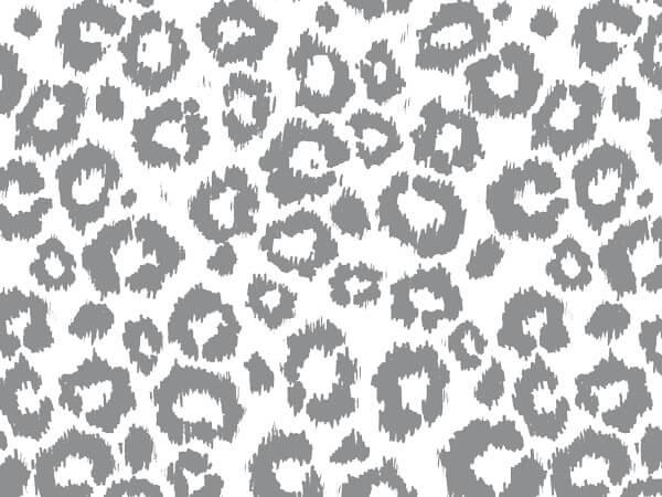 "Silver Leopard Tissue Paper 20x30"", Bulk 120 Sheet Pack"