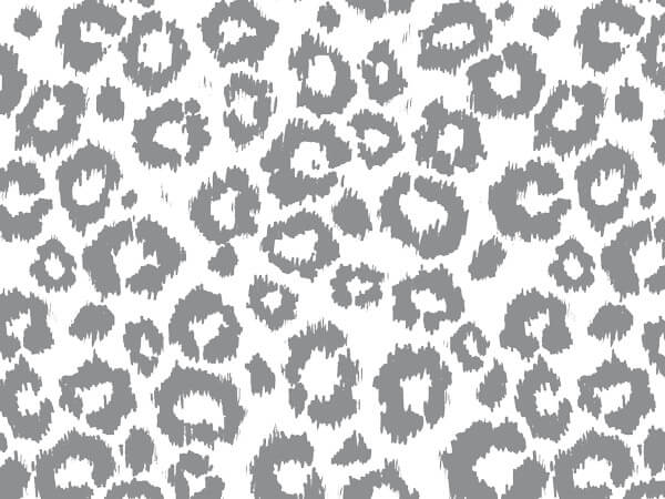 """Silver Leopard Tissue Paper 20x30"""", 12 Soft Fold Sheets"""