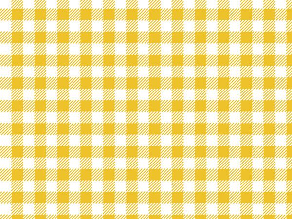 "Sunshine Gingham Tissue Paper 20x30"", 12 Soft Fold Sheets"