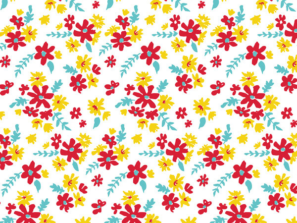 Farm Flowers Tissue Paper