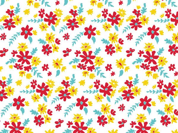 """Farm Flowers Tissue Paper 20x30"""", Bulk 120 Sheet Pack"""