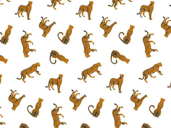 "Cheetah Tissue Paper 20x30"", 12 Soft Fold Sheets"