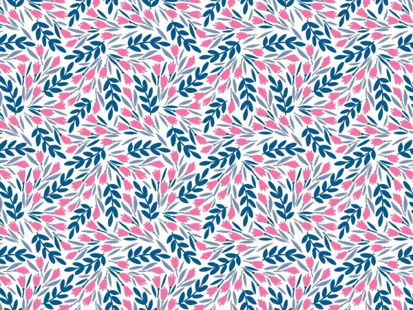 "Pink Petals Tissue Paper 20x30"", 12 Soft Fold Sheets"