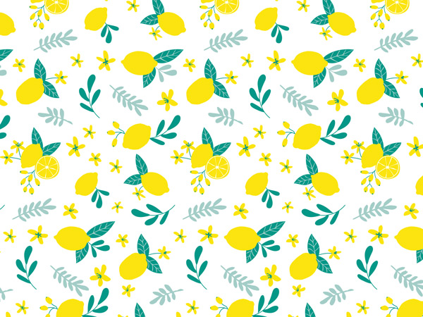 Lemon Blooms Tissue Paper