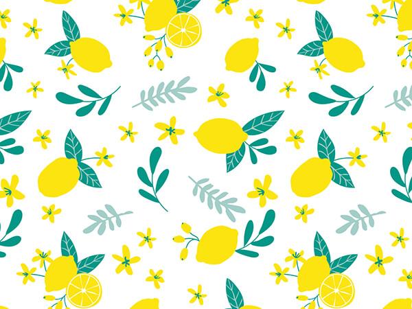 """Lemon Blooms Tissue Paper 20x30"""", Bulk 120 Sheet Pack"""