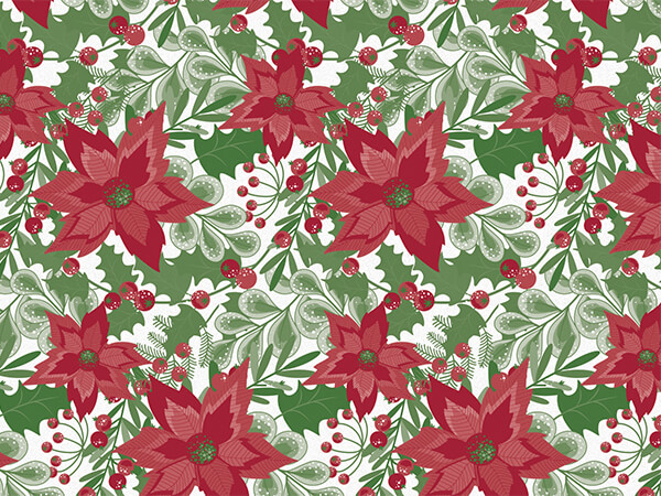 "Christmas Botanicals Tissue Paper 20x30"", Bulk 120 Sheet Pack"