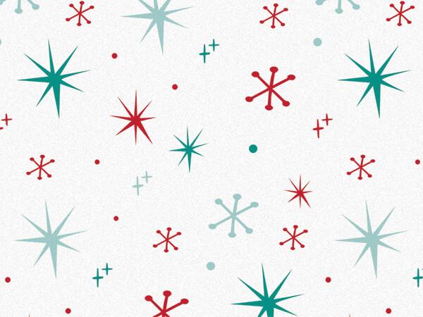 "Vintage Sparkle Tissue Paper 20x30"", 12 Soft Fold Sheets"