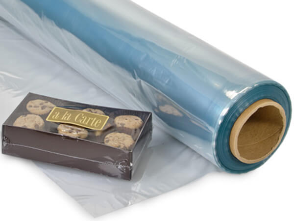 "30""x1500' Shrink Wrap Centerfold Film - 100 Gauge PVC"