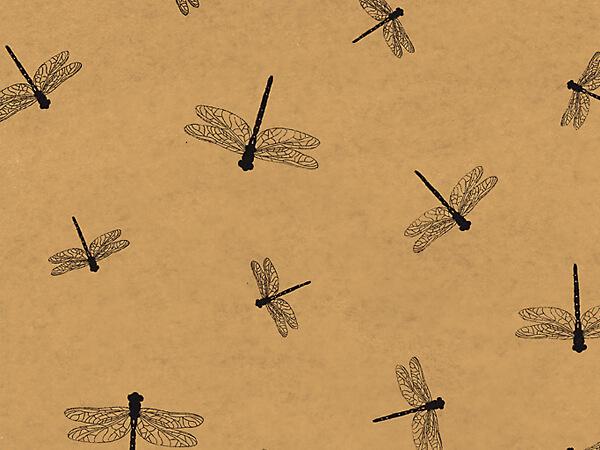 """Dragonflies Kraft Tissue Paper, 20x30"""", Bulk 240 Sheet Pack"""
