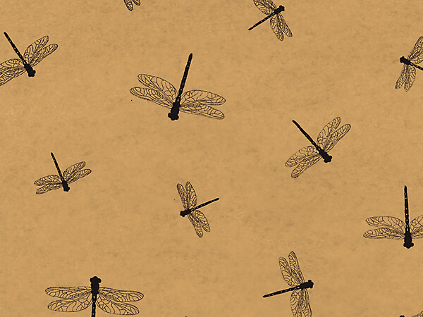 "Dragonflies Kraft Tissue Paper, 20x30"", Bulk 120 Sheet Pack"