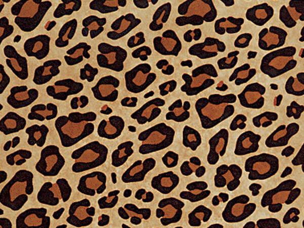"Leopard Kraft Tissue Paper, 20x30"", Bulk 100 Sheet Pack"
