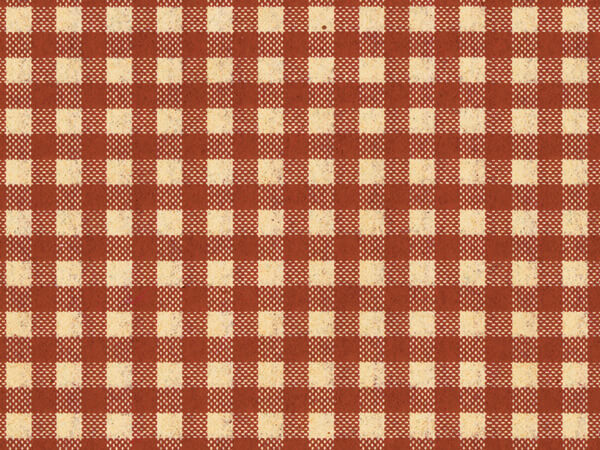 "Burgundy Gingham Kraft Tissue, 20x30"", Bulk 240 Sheet Pack"