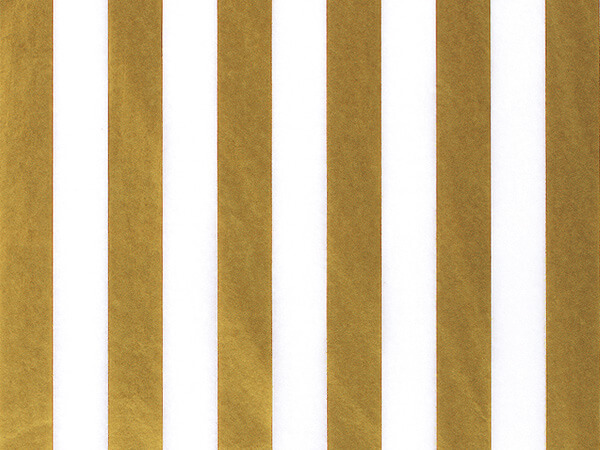 "Gold Metallic Stripes Tissue Paper, 20x30"", Bulk 240 Sheet Pack"