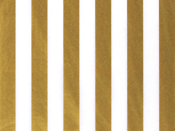 "Gold Metallic Stripes Tissue Paper, 20x30"", 12 Soft Fold Sheets"