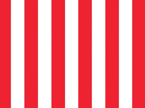 "Bright Red Stripes Tissue Paper, 20x30"", Bulk 240 Sheet Pack"