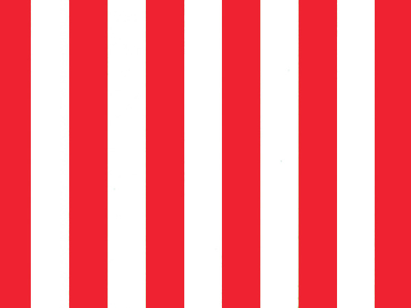 """Bright Red Stripes Tissue Paper, 20x30"""", 12 Soft Fold Sheets"""