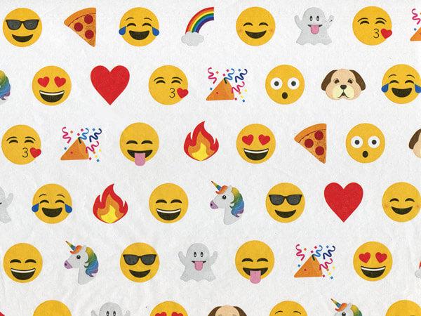 "Emoji Tissue Paper 20x30"", Bulk 100 Sheet Pack"