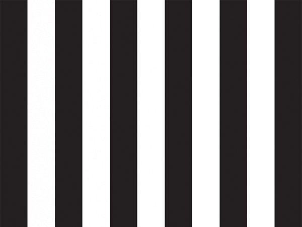 """Black Domino Alley Stripes Tissue, 20x30"""", Bulk 120 Sheet Pack"""