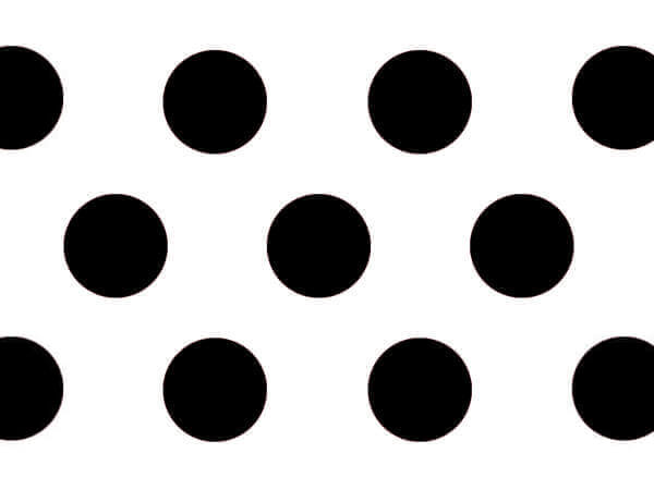 "Black Domino Alley Dots Tissue, 20x30"", Bulk 240 Sheet Pack"