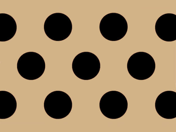 Black Dots Kraft Tissue Paper
