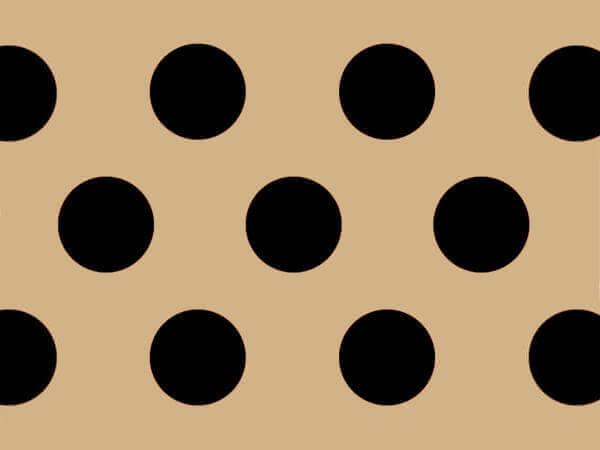 "Black Dots Kraft Tissue Paper 120~20""x30"" Half Ream Recycled"