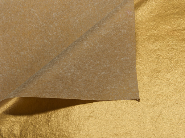 "Metallic Gold Tissue Paper, 20x30"", Bulk 200 Sheet Pack"