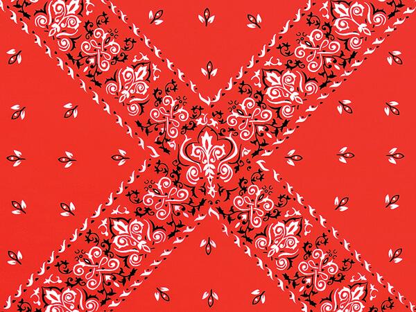 "Red Bandana Tissue Paper, 20x30"", 12 Soft Fold Sheets"