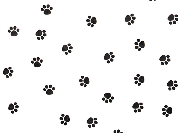 """Paw Print Recycled Tissue Paper 240~20""""x30"""" Sheets Tissue Prints"""