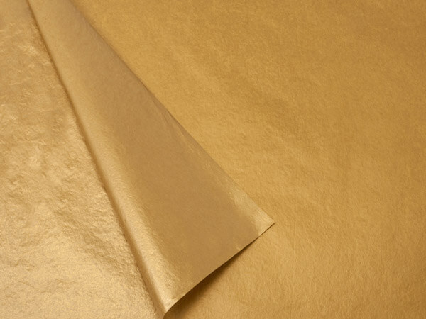 2 Sided Gold Metallic Tissue Paper