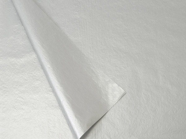 2-Sided Metallic Silver Tissue Paper