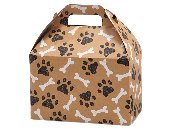 """Paws and Bones Gable Boxes, 9.5x5x5"""", 6 Pack"""